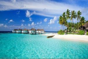 蜜月-【自由行】马尔代夫(中央格兰德岛)5天*机+酒*广州往返*等待确认<一价全包、中文服务、内陆飞机+快艇上岛>