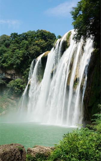 壁纸 风景 旅游 瀑布 山水 桌面 337_537 竖版 竖屏 手机
