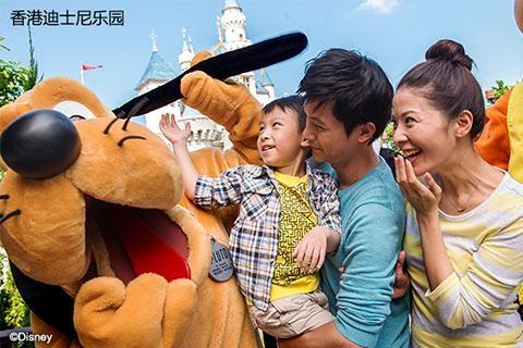 【乐园】香港迪士尼乐园1天*双程*直通巴士
