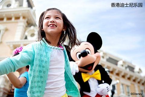 香港迪士尼乐园1天.单程.直通巴士