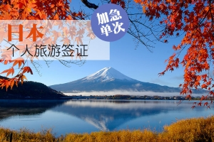 日本签证(个人旅游,6个工作日,广东领区)
