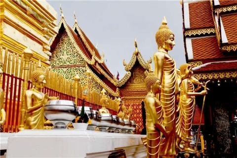 泰国【当地玩乐】代订清迈素帖山 双龙寺+苗人村 半日游|跟团游