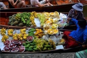泰国-泰国【当地玩乐】代订曼谷丹嫩沙多水上市场+大皇宫、卧佛寺一日游(含午餐)(英文服务)