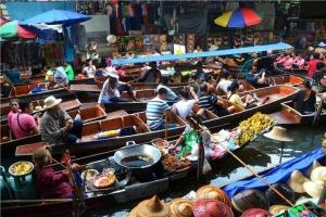 泰国-泰国【当地玩乐】代订曼谷丹嫩沙多水上市场+美攻火车市场半日游(中文服务)*等待确认