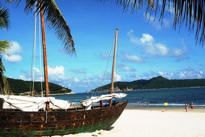 下川岛王府洲、亚热带椰林风情二天