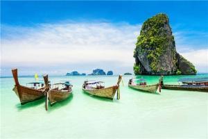 泰国-泰国【当地玩乐】代订甲米四岛(长尾船)一日游
