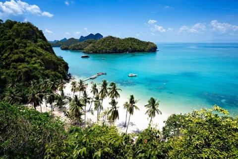 """苏梅岛-【泰国苏梅岛当地一日游】""""公爵号""""红帆船之旅"""