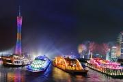 珠江夜游金航邮轮自助餐通票(大沙头和广州塔码头)