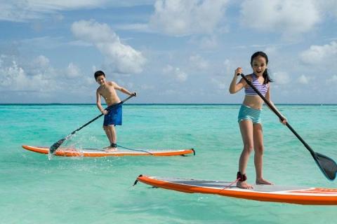 马尔代夫-【自由行】马尔代夫卡尼岛、翡诺岛6天*ClubMed*机+酒<一价全包、2晚卡尼沙滩屋2晚翡诺日出海岸别墅>