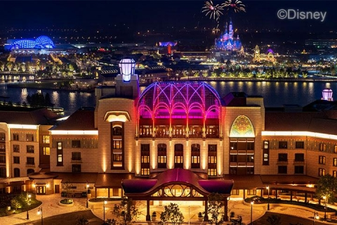迪士尼乐园酒店花园房+2大1小上海迪士尼两日门票