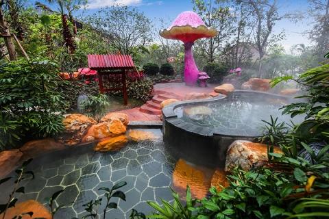 佛山2天.高明美的鹭湖岭南花园酒店.无限次半山温泉