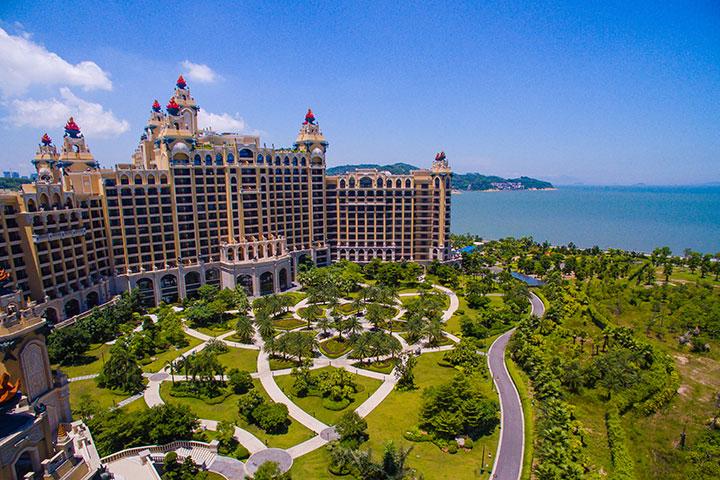珠海长隆横琴湾酒店-【直连】度假园景双床房(2天1晚双人海洋王国+自助午餐)