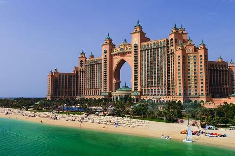 阿联酋迪拜、阿布扎比6天.棕榈岛亚特兰蒂斯酒店.滑雪场.卢浮宫.迪拜金相框